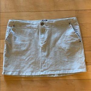 XOXO Jeans Corduroy Mini Skirt Sz 13/14